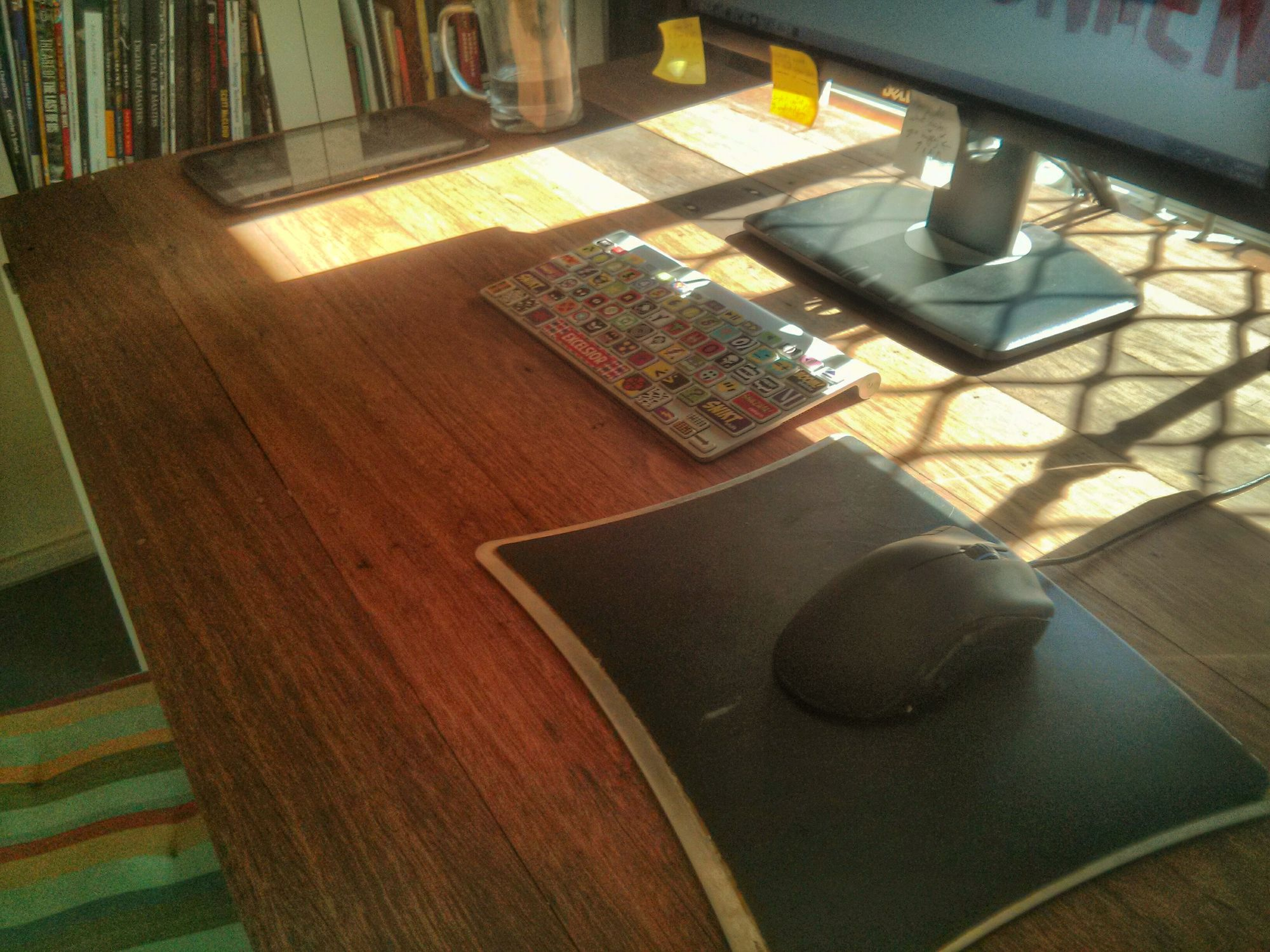 DIY hardwood drafting (drawing) table